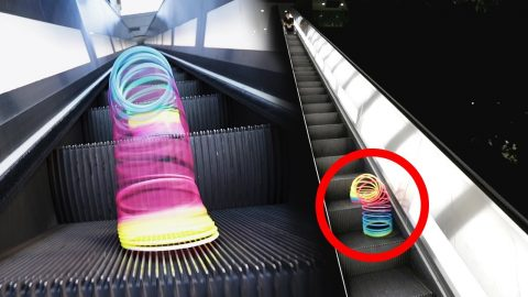 What Happens When You Put a Slinky on an Escalator - Chris Chann