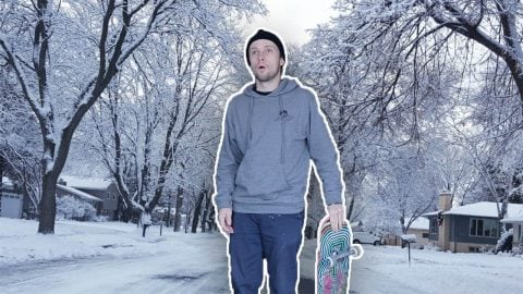 what it's like trying to skate in the Midwest winters #shorts | Max Williams