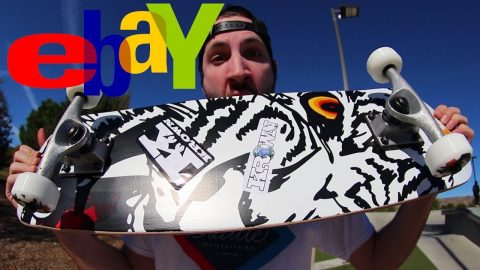 WILL THE EBAY SKATEBOARD BREAK!? - Braille Skateboarding