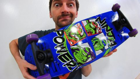 WILL THE K-MART NINJA TURTLES BOARD BREAK?! - Braille Skateboarding