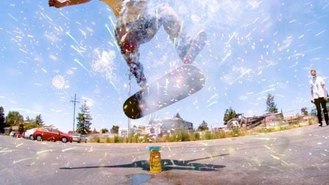 WORLD'S BEST FLATGROUND SKATER VS FIREWORKS | Braille Skateboarding