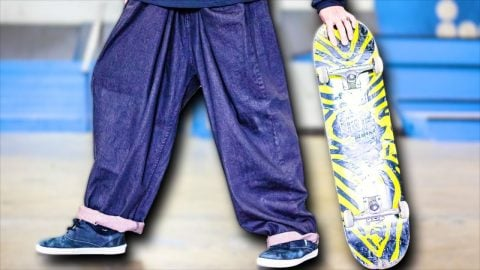 WORLD'S MOST BAGGY PANTS S.K.A.T.E. | Braille Skateboarding