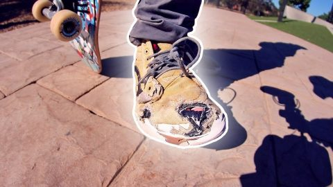 WORST SHOES AT THE PARK | FIRST KICKFLIP EVER! - Braille Skateboarding
