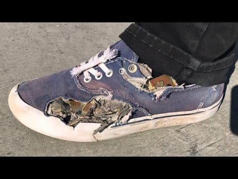 WORST SHOES AT THE PARK LIVE! - Braille Skateboarding