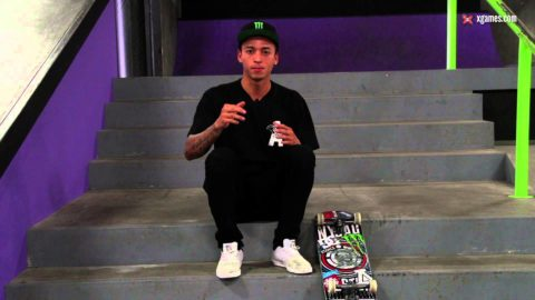 X Games Trick Tips -- Nyjah Huston backside lipslide - X Games