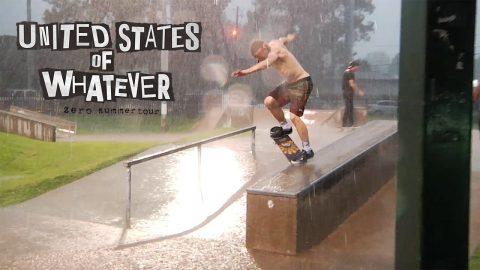 Zero Skateboards - United States of Whatever Tour | Episode 2 - RAIN DEMO! | TransWorld SKATEboarding